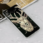 Luminous Deer Pattern Shockproof TPU Protective Case for Galaxy A7 (2018)