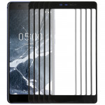 10 PCS Front Screen Outer Glass Lens for Nokia 5.1(Black)