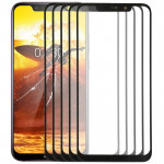 10 PCS Front Screen Outer Glass Lens for Nokia X7(Black)