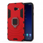 PC + TPU Shockproof Protective Case for Galaxy J4 Plus, with Magnetic Ring Holder (Red)