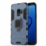PC + TPU Shockproof Protective Case for Galaxy S9 , with Magnetic Ring Holder (Gray)