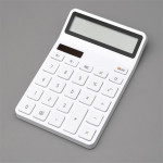 Original Xiaomi Mijia Rice Calculator 12-bit LED Display ABS Material 6 Degree Angle (White)