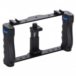 PULUZ Live Broadcast Smartphone Cage Video Rig Filmmaking Recording Handle Stabilizer Bracket for iPhone, Galaxy, Huawei, Xiaomi