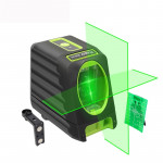 BOX-1G 1V1H 40mW & 10mW 2 Line Green Beam Laser Level Covering Walls and Floors (Green)