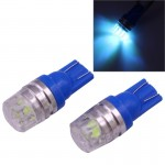 2 PCS T10 1.5W 60LM 1 LED Dark Blue COB LED Brake Light for Vehicles, DC12V(Dark Blue)