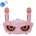 SD-306 2 in 1 Family KTV Portable Wireless Live Dual Microphone + Bluetooth Speaker(Pink)