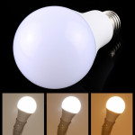 E27 15W 800-1125LM Intelligent LED Bulb Energy Saving Light with Three Color Temperature, AC 160-250V