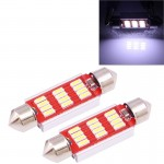 2 PCS 39mm 3.5W 180LM White Light 12 LED SMD 4014 CANBUS License Plate Reading Lights Car Light Bulb
