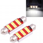 2 PCS 39mm 3W 180LM White Light 9 LED SMD 2835 CANBUS License Plate Reading Lights Car Light Bulb