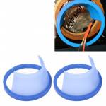 2 PCS 6.5 inch Car Auto Loudspeaker Plastic Waterproof Cover with Protective Cushion Pad, Inner Diameter: 14.5cm(Blue)