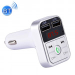 B2 Dual USB Charging Bluetooth FM Transmitter MP3 Music Player Car Kit, Support Hands-Free Call & TF Card & U Disk (Silver)