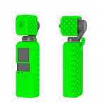 PULUZ 2 in 1 Diamond Texture Silicone Cover Case Set for DJI OSMO Pocket(Green)