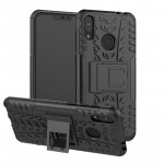 Tire Texture TPU+PC Shockproof Case for Asus Zenfone Max (M2), with Holder (Black)