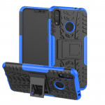 Tire Texture TPU+PC Shockproof Case for Asus Zenfone Max (M2), with Holder (Blue)
