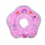 Circle Shaped Inflatable Baby Children Swimming Neck Ring(Pink)