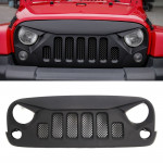 Car Six Holes Front Racing Front Grille Grid Insect Net for Jeep Wrangler JK 2007-2017