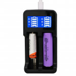 YS-2 18650 Smart LCD Dual Battery Charger with Micro USB Output for 18490/18350/17670/17500/16340 RCR123/14500/10440/A/AA/AAA