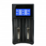 YS-3 Universal 18650 26650 Smart LCD Dual Battery Charger with Micro USB Output for 18490/18350/17670/17500/16340 RCR123/14500/1