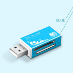 Multi in 1 Memory SD Card Reader for Memory Stick Pro Duo Micro SD,TF,M2,MMC,SDHC MS Card(Blue)