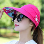 Women Summer Casual Going Out Ultraviolet-proof Korean Style Folded Sun Block Hat Breathable And Light(Green)