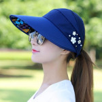 Women Summer Casual Going Out Ultraviolet-proof Korean Style Folded Sun Block Hat Breathable And Light(Black)