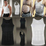 3PCS Men Slimming Body Shaper Vest Underwear, Size::M(White)