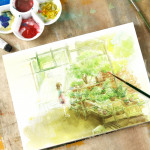 Professional Watercolor Paper Hand Painted Watercolor Book A5 148 210mm