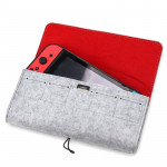 Portable Soft Felt Handbag Storage Protective Bag for Nintendo Switch (Light Grey)