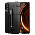 Shockproof Rugged Shield Full Coverage Protective Silicone Case for VIVO IQOO (Black)