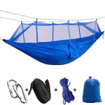1-2 Person Outdoor Mosquito Net Parachute Hammock Camping Hanging Sleeping Bed Swing Portable Double Chair, 260 x 140cm(deep b