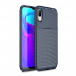 Beetle Series Carbon Fiber Texture Shockproof TPU Case for Huawei Y6 Pro (2019) (Blue)
