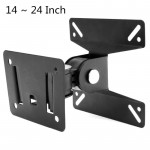Universal Rotated TV PC Monitor Wall Mount Bracket for 14 ~ 24 Inch LCD LED Flat Panel TV with 180 degrees around the pivot