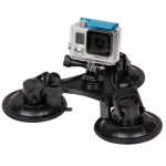 Triangle Direction Suction Cup Mount with Hexagonal Screwdriver for GoPro HERO4 /3+ /3 /2 /1(Black)