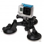 Triangle Direction Suction Cup Mount with Hexagonal Screwdriver for GoPro HERO4 /3+ /3 /2 /1