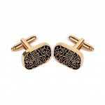 High-end men shirts Cufflinks collocation accessoriesgifts classic Mens Fashion Design carving(Gold)