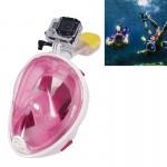 Water Sports Diving Equipment Full Dry Diving Mask Swimming Glasses for GoPro HERO4 /3+ /3 /2 /1, M Size(Pink)