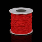 50m/bag 0.5mm Round Elastic Cord Beading Stretch Thread/String/Rope for Necklace Bracelet Jewelry Making(red)