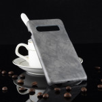 Shockproof Litchi Texture PC + PU Case for Galaxy S10 5G (Grey)