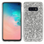 Glitter Powder Shockproof TPU Protective Case for Galaxy S10 (Silver)