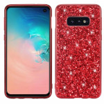 Glitter Powder Shockproof TPU Protective Case for Galaxy S10 (Red)