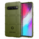 Shockproof Rugged Shield Full Coverage Protective Silicone Case for Galaxy S10 5G(Army Green)