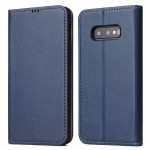 Horizontal Flip PU Leather Case for Galaxy S10e, with Holder & Card Slot & Wallet (Blue)