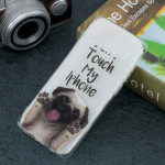 Dog Pattern Transparent TPU Protective Case for Galaxy S10