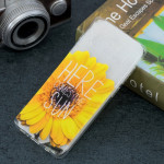 Sunflower Pattern Transparent TPU Protective Case for Galaxy S10