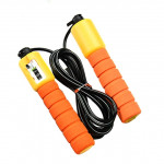 Jump Ropes with Counter Sports Fitness Adjustable Fast Speed Counting Jump Skip Rope Skipping Wire(Orange)