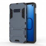 Shockproof PC + TPU Case for Galaxy S10 Lite, with Holder (Navy Blue)