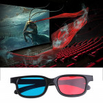 10pcs 3D Glasses Universal Black Frame Red Blue Cyan Anaglyph 3D Glasses 0.2mm For Movie Game DVD