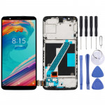 LCD Screen and Digitizer Full Assembly with Frame for Oneplus 5T A5010(Black)