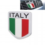MZ Universal Italy Flag Pattern Aluminum Alloy Car Front Grille