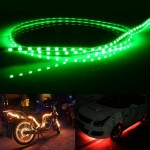 Green Light Normally-on Style 45 LED 3528 SMD Waterproof Flexible Car Strip Light for Car Decoration, DC 12V, Length: 45cm